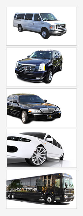 Orlando limos, taxi, town car, bus, suv, and shuttle van transportation services near the airport, Disney, Seaworld and idrive.